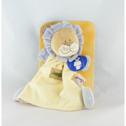 Doudou plat marionnette lion jaune orange jungle BENGY