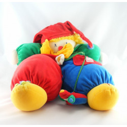 Doudou clown rouge jaune fleurs Vite un Câlin MOULIN ROTY