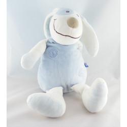 Doudou chien blanc bleu SUCRE D'ORGE