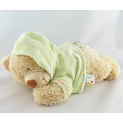 Doudou musical ours sweat capuche vert NICOTOY