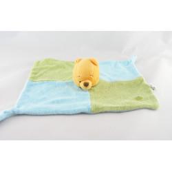 Doudou Plat éponge Winnie vert bleu pomme DISNEY BABY NEUF