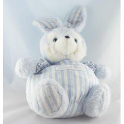 Doudou lapin bleu blanc rayé TARTINE ET CHOCOLAT