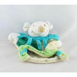 Doudou et compagnie marionnette souris verte col fleur soleil