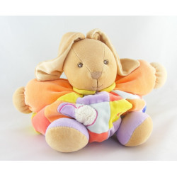 Doudou lapin patapouf orange patchwork abeille Kaloo