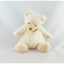 Grand Doudou ours blanc beige Tout doux BABY NAT 60 cm