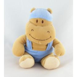Doudou hippopotame bonnet bleu NOUKIE'S