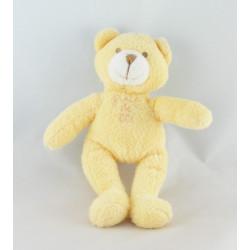 Doudou plat ours blanc beige GRAIN DE BLE