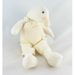 Doudou plat nénuphar beige canard Edouard MRSA