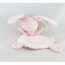 Doudou plat lapin rose GRAIN DE BLE