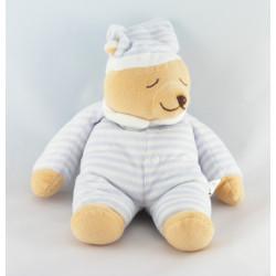 Doudou plat ours blanc Babyléna ANAIK