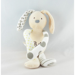 Doudou lapin beige blanc pois VERTBAUDET
