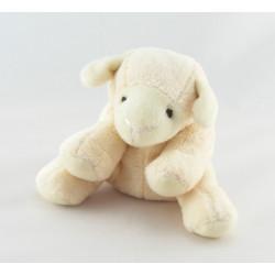 Doudou chien mouton blanc Zouzou BAMBOO