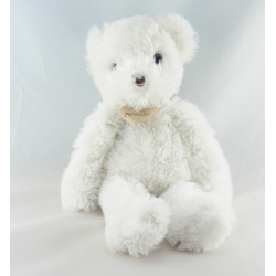 Doudou ours blanc beige hochet Mon Coeur POMMETTE