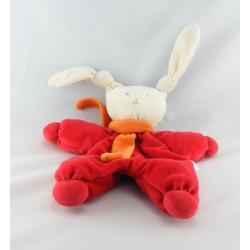 Doudou lapin Patachou orange rouge Corolle