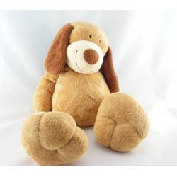 Doudou chien beige cocard écharpe bleu KIABI