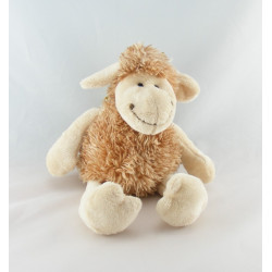 Doudou ours beige marron écharpe blanche CP INTERNATIONAL