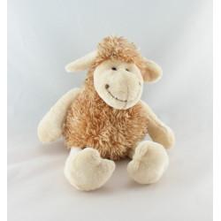 Doudou ours beige marron écharpe blanche CP INTERNATIONAL