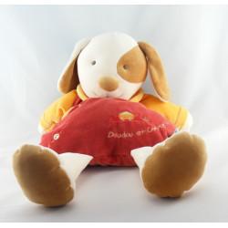 Doudou et compagnie range pyjama Hugo chien orange jaune