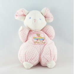 Doudou ours carreaux rose  BABY DIOR