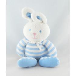 Doudou lapin pyjama bleu rayures luminou JEMINI