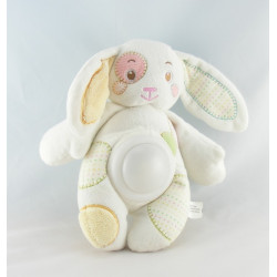 Doudou lapin blanc pull orange AUCHAN