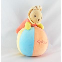 Doudou culbuto multicolore lapin coccinelle KALOO