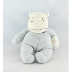 Doudou hippopotame beige écru bleu BENGY