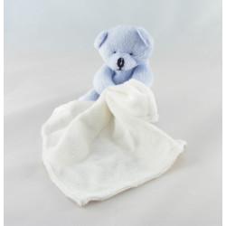 Doudou plat ours bleu ciel mouchoir Baby nat