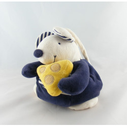 Doudou souris bleu Fromage PRISCILLA LARSEN
