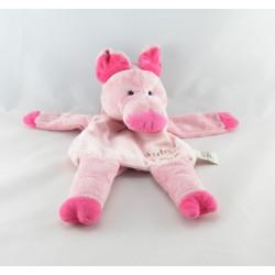 Doudou plat marionnette cochon rose HISTOIRE D'OURS