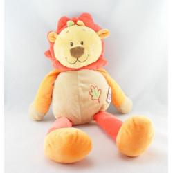 Doudou lion beige orange marron DOUKIDOU