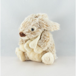 Doudou Lapin blanc beige LASCAR