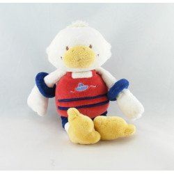 Doudou canard rouge rose CATIMINI