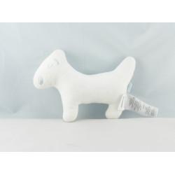 Doudou chien blanc robe rouge coeur 2004 ELYTIS