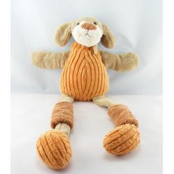 Doudou plat marionnette chien marron HISTOIRE D'OURS