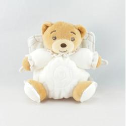 Mini Doudou ours blanc avec ailes ange KALOO