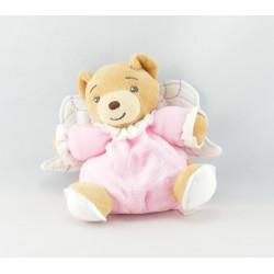 Mini Doudou ours blanc avec ailes ange KALOO NEUF