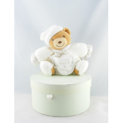 Doudou ours patapouf blanc feuille dragée KALOO