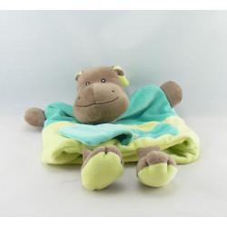 Doudou plat marionnette l'hippo Hippopotame BABY NAT