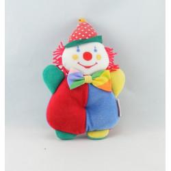Doudou clown rouge jaune pois COROLLE