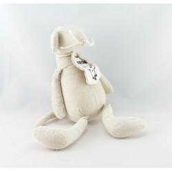 Doudou dragon beige rose Oscar J-LINE