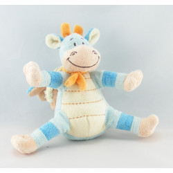 Doudou dragon bleu foulard orange BENGY