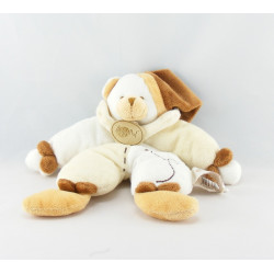 Doudou plat noeuds ours marron blanc BABY NAT