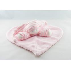 Doudou poupée lutin pyjama rayé rose MOULIN ROTY