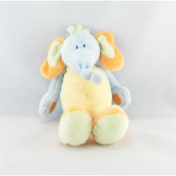 Doudou musical éléphant bleu jaune orange vert NATTOU