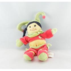 Doudou poupée fille esquimau jaune bleu BABY NAT