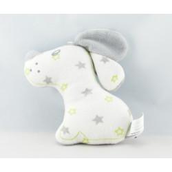 Doudou lapin chien jaune SUCRE D'ORGE