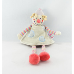 Doudou Clown multicolore couronne JOLLYBABY