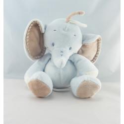 Doudou éléphant bleu beige NATTOU