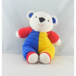 Doudou ours bleu jaune BENGY
